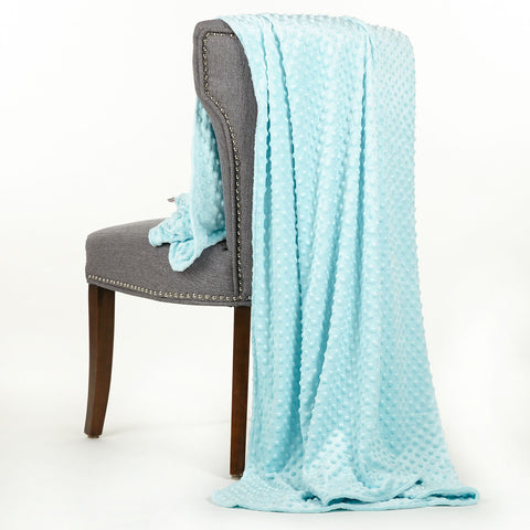 Opal Blue Minky Throw