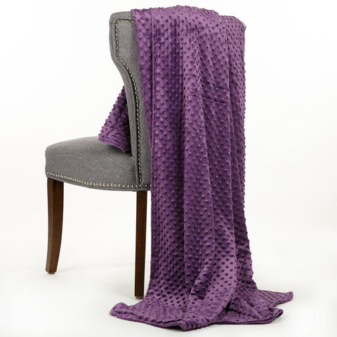 Purple Minky Throw