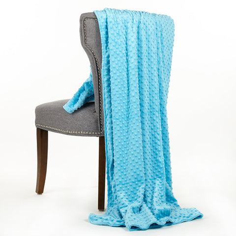 Turquoise Minky Throw