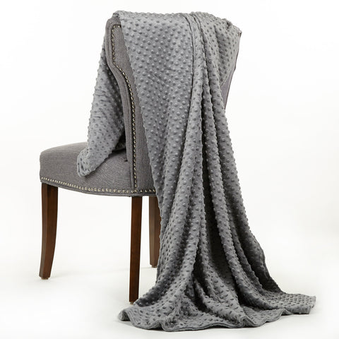 Gray Minky Throw