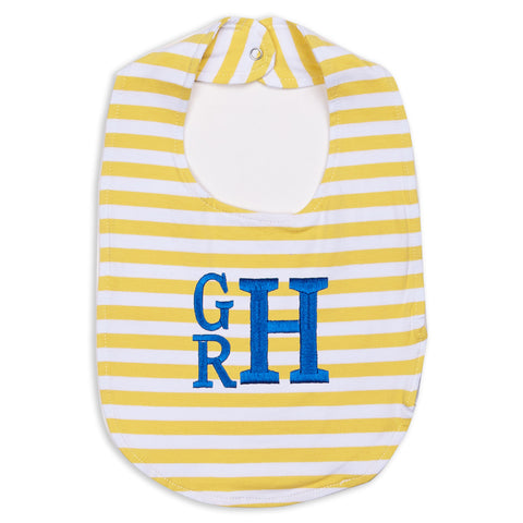 Yellow Stripe Bib