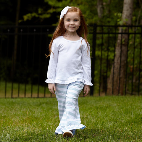 Light Blue Stripe Pant Set
