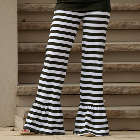 Black Stripe Pant