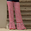 Red Stripe Ruffle Pants