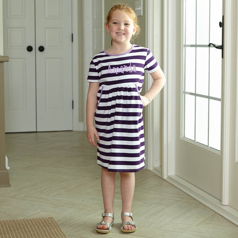 Purple Stripe Dress