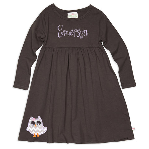 Charcoal Empire Dress
