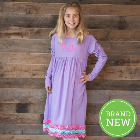 Lavender Squinchy Dress