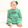 Green Stripe Dress with Leggings