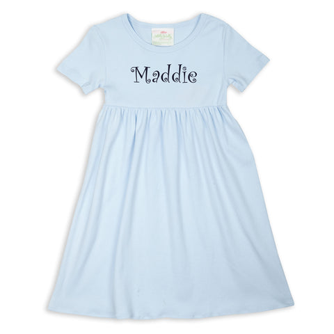 Light Blue Empire Dress