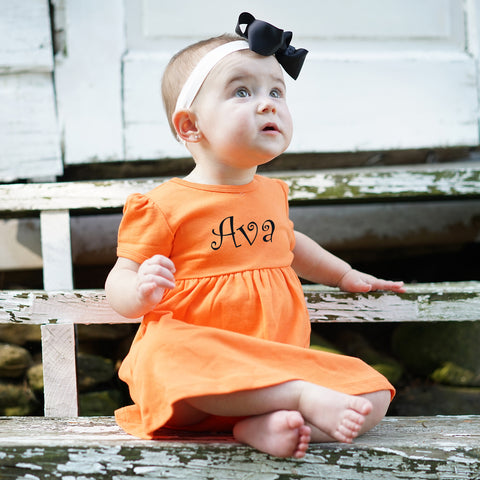 Orange Dress with Bloomers