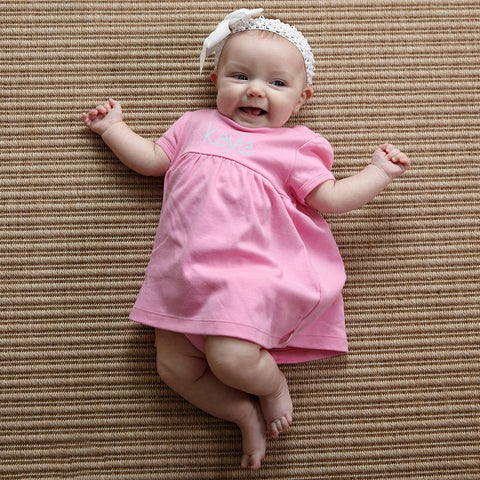 Candy Pink Dress with Bloomers