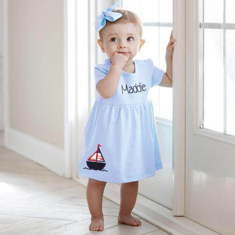 Light Blue Dress with Bloomers