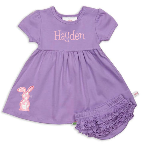 Dark Lavender Dress with Bloomers
