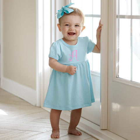 Aqua Dress with Bloomers