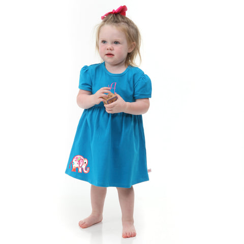 Blue Turquoise Dress with Bloomers