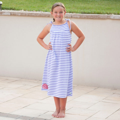Lavender Stripe Tie Dress