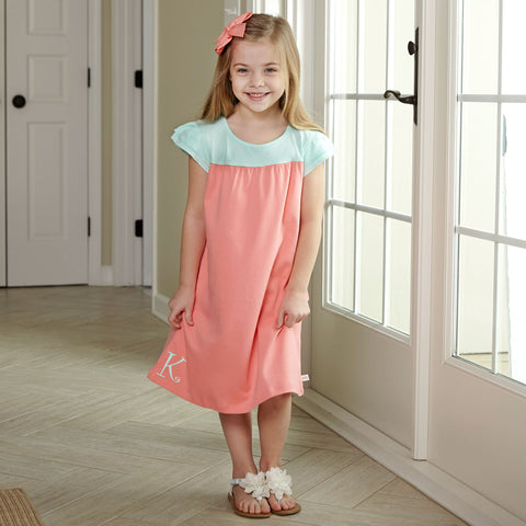 Peach Tiffany Yoke Dress