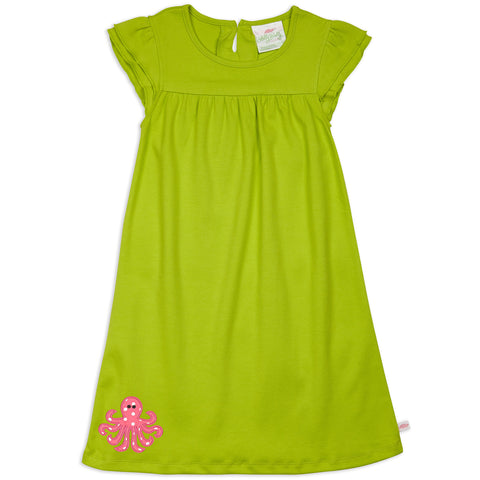 Lime Yoke Dress