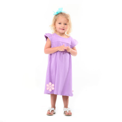 Lavender Yoke Dress