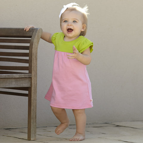 Candy Pink Lime Dress with Bloomers