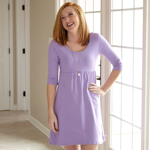Lavender Empire Dress