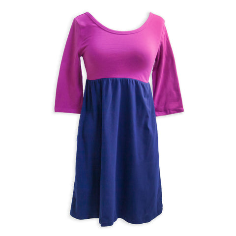 Plum Empire Dress