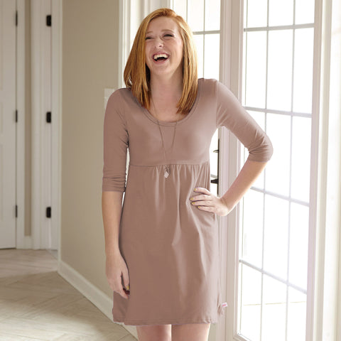 Taupe Empire Dress