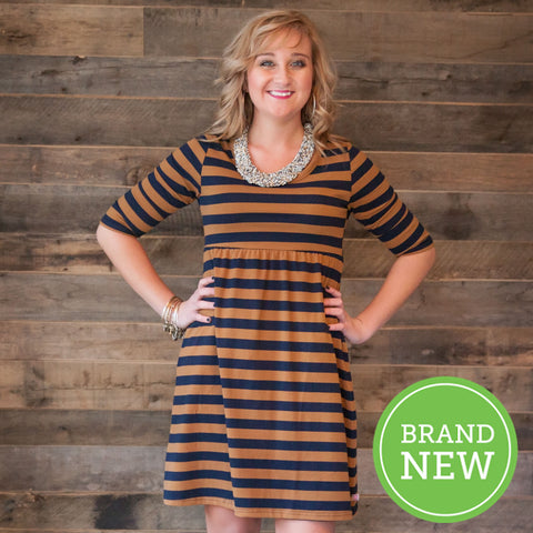 Stripe Empire Dress