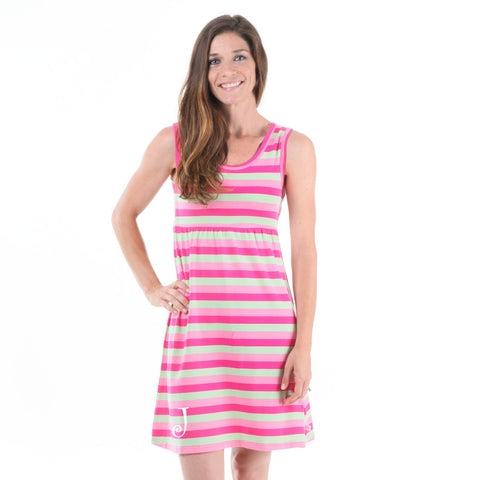 Pink Mint Stripe Tank Dress