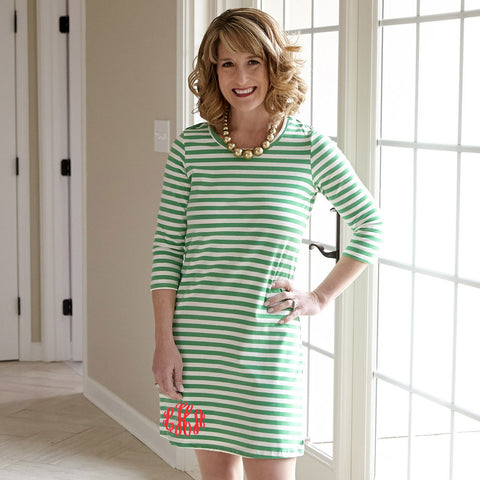 Kelly Green Stripe Dress