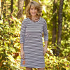 Gray Stripe Shift Dress