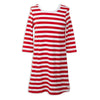 Red Stripe Shift Dress