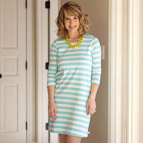 Aqua Stripe Dress