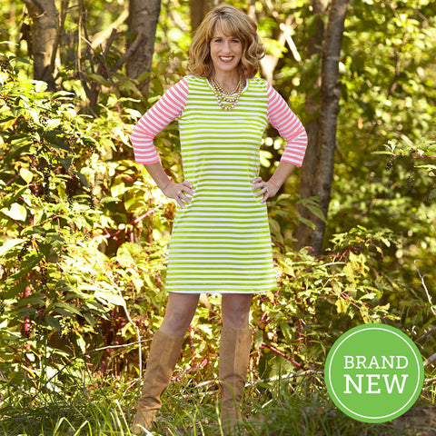 Lime Pink Stripe Dress