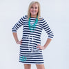 Navy Stripe Tie Dress
