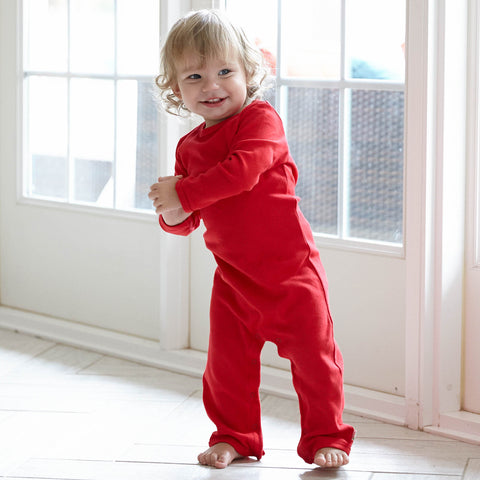 Red Cotton Romper