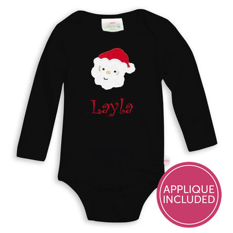 Black Santa Applique Onesie