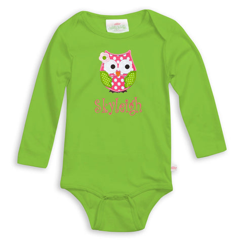Apple Green Long Sleeve Onesie