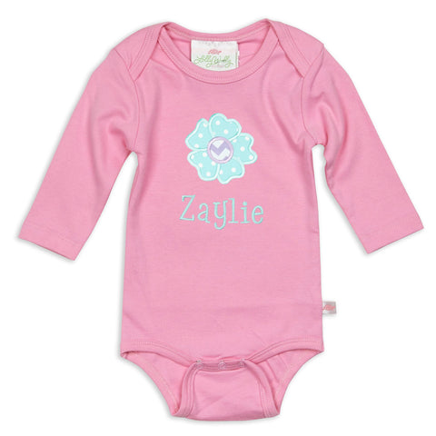 Candy Pink Long Sleeve Onesie