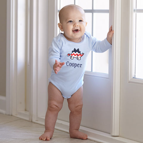 Light Blue Long Sleeve Onesie
