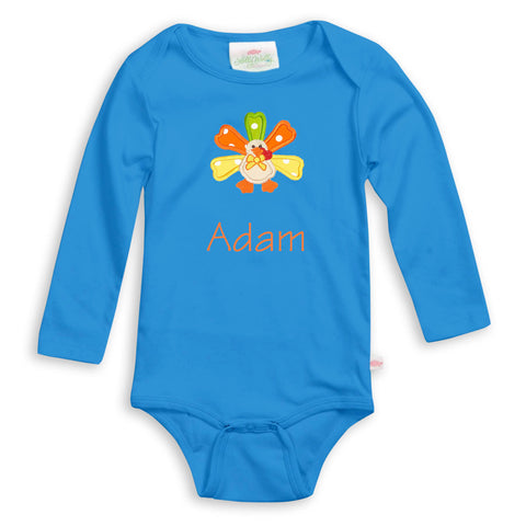 Royal Blue Long Sleeve Onesie