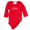 Red Ruffle Long Sleeve Onesie