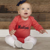 Coral Navy Ruffle Cotton Onesie