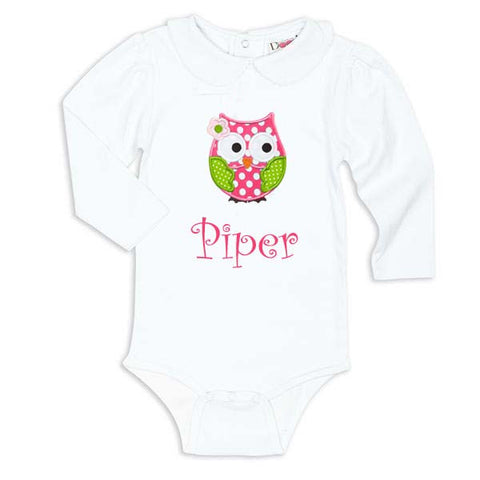 White Peter Pan Collar Onesie