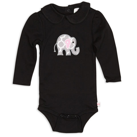 Black Peter Pan Collar Onesie