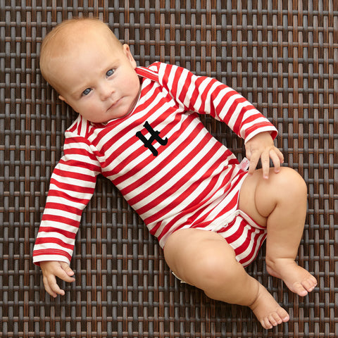 Red Stripe Onesie
