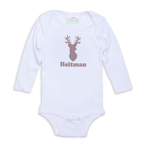 Deer Name Onesie