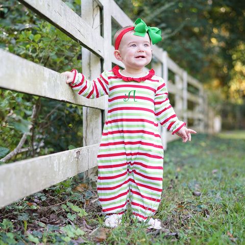 Christmas Stripe Romper
