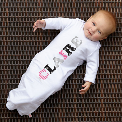 White Cotton Name Layette