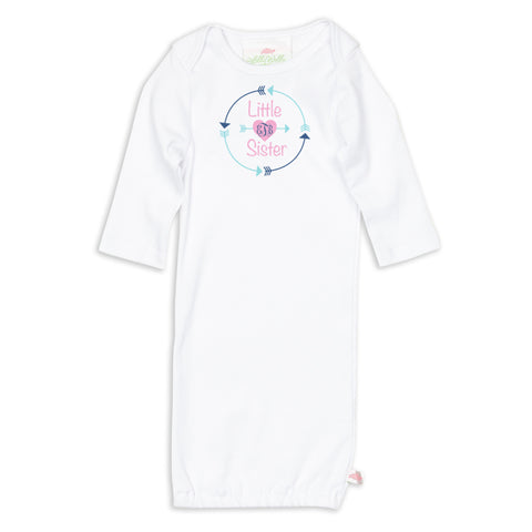 Little Sister Arrow Initials Sibling Layette
